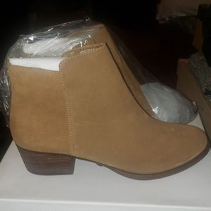 Brand New Tan Suede Ankle Boot